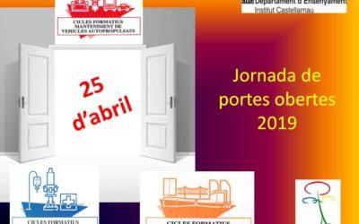 Jornada de portes obertes: 25 d'abril