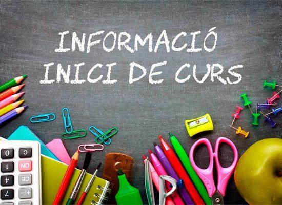 Inici de classes curs 2019-2020