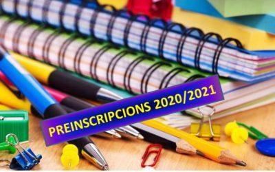 Preinscripció pel curs 2020-2021 i notes de tall