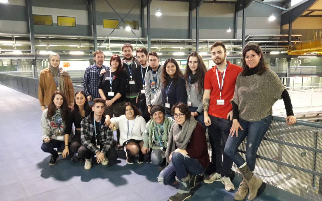 Visita dels alumnes de salut ambiental al Sincrotró